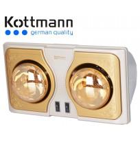 Đèn sưởi nhà tắm Kottmann K2BH 2 bóng vàng